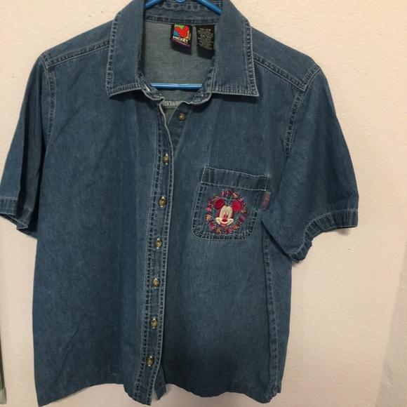 cf44f4838a4 14W 16W Mickey Mouse Denim shirt